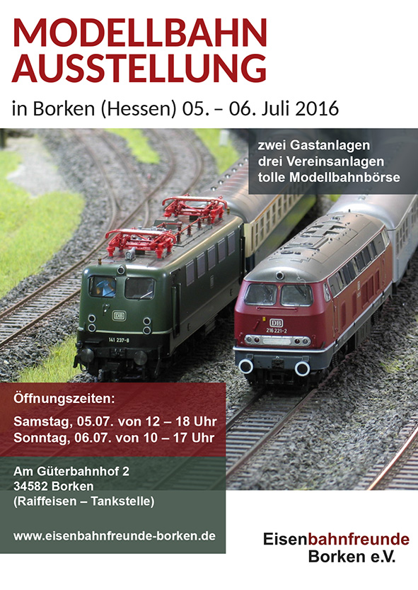 Bahnausstellung Entwurf