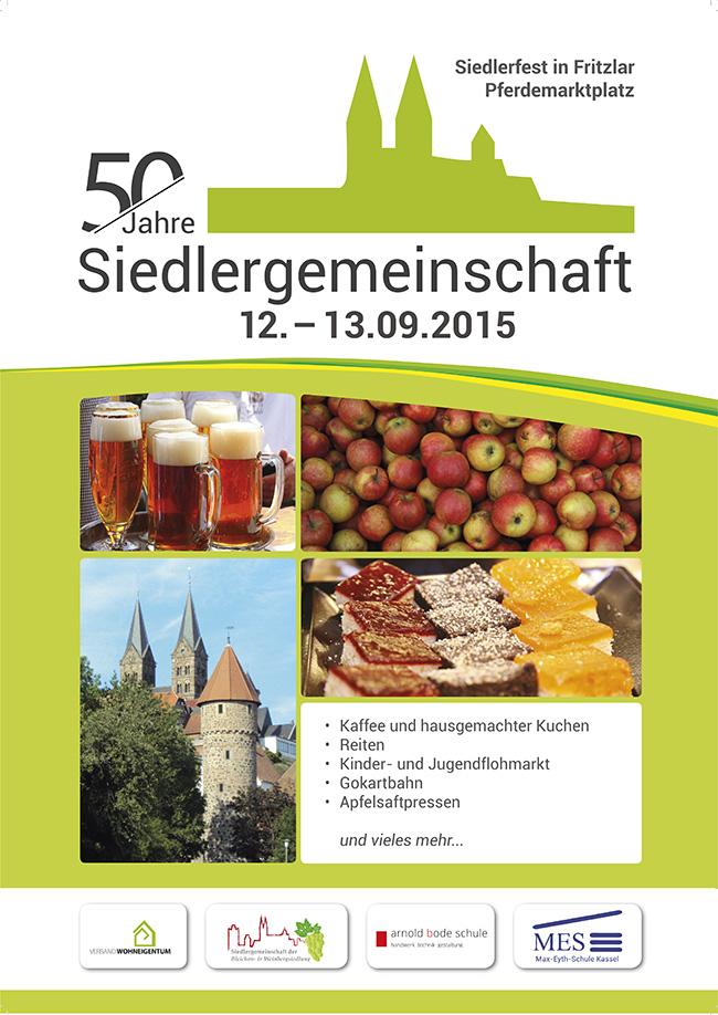 Siedlerfest Plakat Entwurf